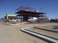Crews Top Off TERO Office Building in New Town, ND